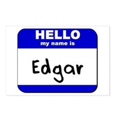 hello my name is edgar  Postcards (Package of 8)