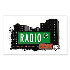 Radio Dr, Bronx, NYC Rectangle Decal