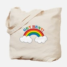 Get BENT with a cute pride RAINBOW Tote Bag