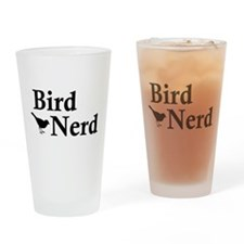 Cute Bird watching Drinking Glass