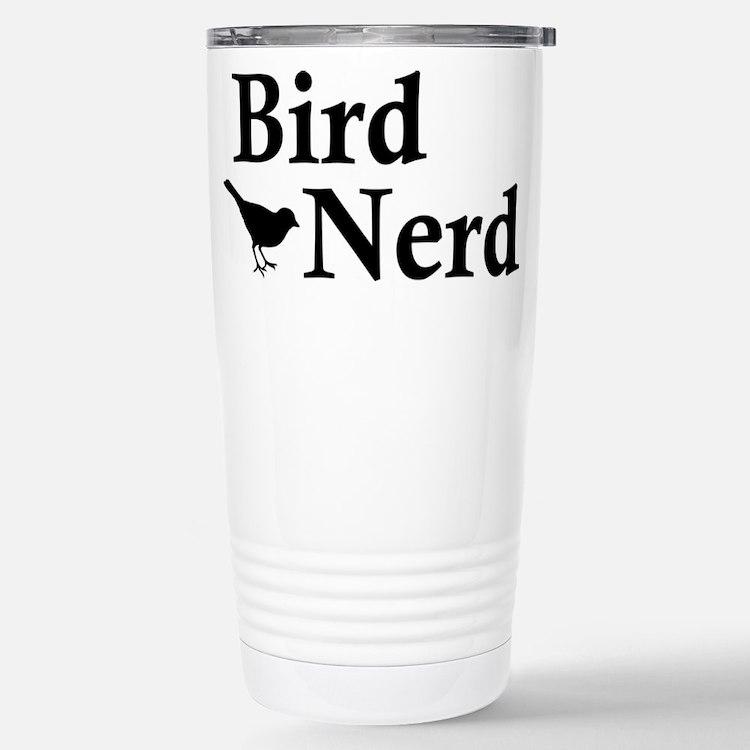 Bird Nerd Stainless Steel Travel Mug