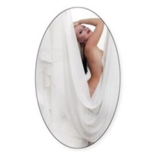 Beautiful Nude Blonde with Drapes ( Decal