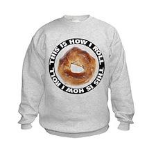 How I Roll Bagel Kids Sweatshirt