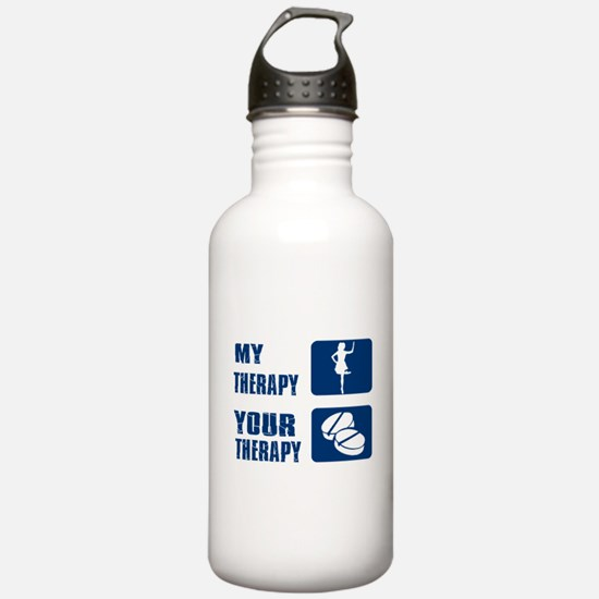 Irish stepdance is my therapy Water Bottle