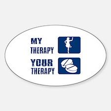 Irish stepdance is my therapy Sticker (Oval)