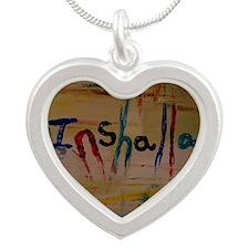 inshallah Silver Heart Necklace