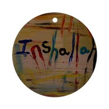 inshallah Round Ornament