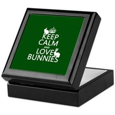 Keep Calm and Love Bunnies Keepsake Box