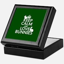 Keep Calm and Love Bunnies Keepsake Box
