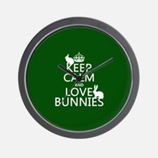 Keep Calm and Love Bunnies Wall Clock