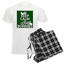 Keep Calm and Love Bunnies pajamas
