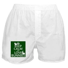 Keep Calm and Love Bunnies Boxer Shorts