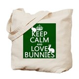 Keep calm love the bunnies Canvas Bags