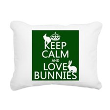 Keep Calm and Love Bunnies Rectangular Canvas Pill