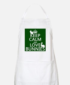 Keep Calm and Love Bunnies Apron