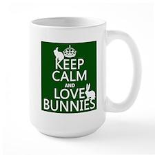 Keep Calm and Love Bunnies Mugs