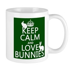 Keep Calm and Love Bunnies Mugs