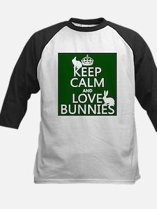 Keep Calm and Love Bunnies Baseball Jersey