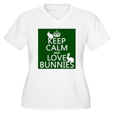 Keep Calm and Love Bunnies Plus Size T-Shirt