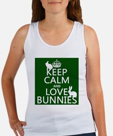 Keep Calm and Love Bunnies Tank Top