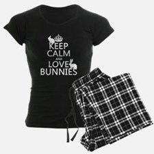 Keep Calm and Love Bunnies pajamas