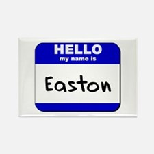 hello my name is easton Rectangle Magnet