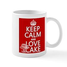 Keep Calm and Love Cake Mugs