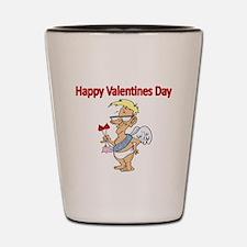 Happy Valentines Day 2 Shot Glass