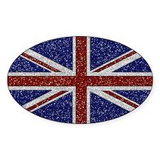 Glitters Shiny Sparkle Union Jack Flag Decal