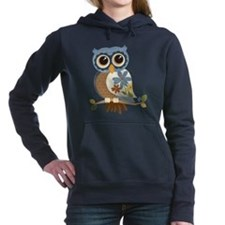 Owl With Flowers Hooded Sweatshirt