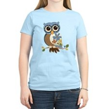 Owl With Flowers T-Shirt