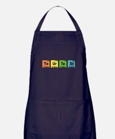 Personalized Your Text Periodic Table Apron (dark)