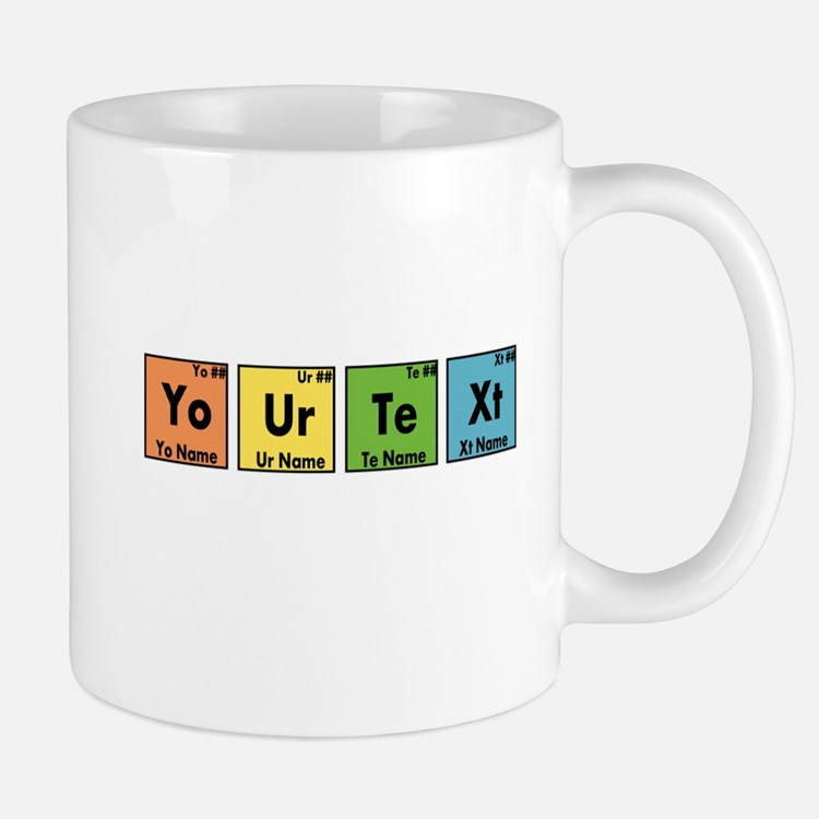 Personalized Your Text Periodic Table N Mug