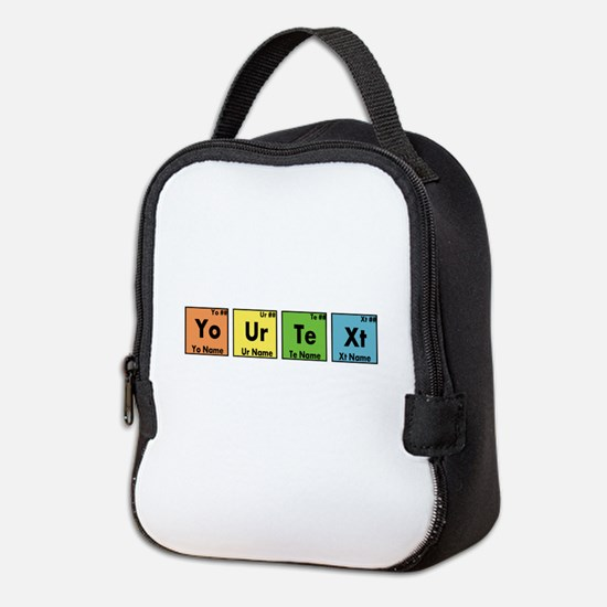 Personalized Your Text Periodic Neoprene Lunch Bag