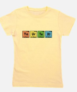 Personalized Your Text Periodic Table N Girl's Tee