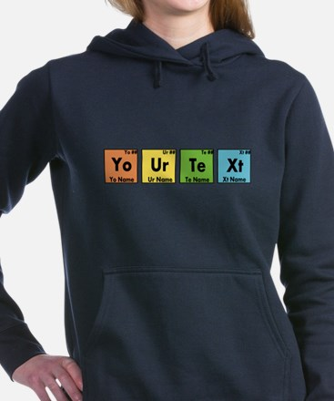Personalized Your Text P Women's Hooded Sweatshirt