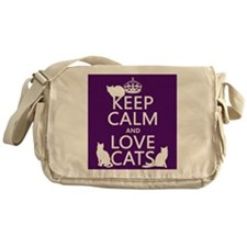 Keep Calm and Love Cats Messenger Bag