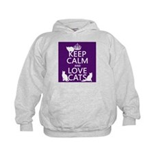 Keep Calm and Love Cats Hoody