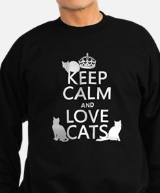 Keep Calm and Love Cats Jumper Sweater