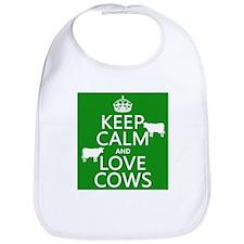 Keep Calm and Love Cows Bib