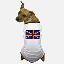 Glitters Shiny Sparkle Union Jack Flag Dog T-Shirt