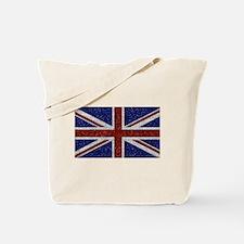 Glitters Shiny Sparkle Union Jack Flag Tote Bag