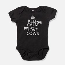 Keep Calm and Love Cows Baby Bodysuit
