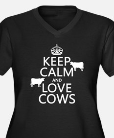 Keep Calm and Love Cows Plus Size T-Shirt