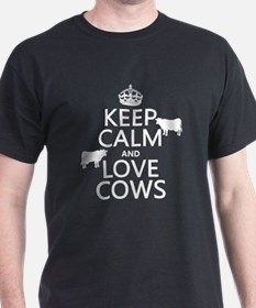 Keep Calm and Love Cows T-Shirt
