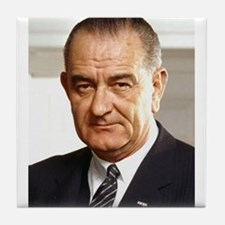 Lyndon B. Johnson Tile Coaster