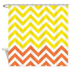 Yellow and orange chevrons Shower Curtain