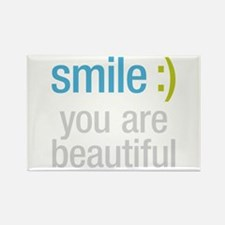 Smile Beautiful Rectangle Magnet (10 pack)