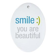 Smile Beautiful Ornament (Oval)