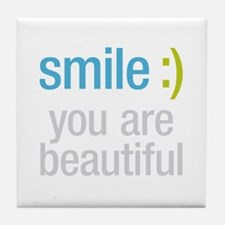 Smile Beautiful Tile Coaster